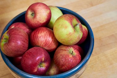 Apples in bowl; Photo by StockSnap, Tim Sullivan