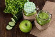 Green apples, cut cucumber and apple smoothie on a table; Photo by Pexels, Toni Cuenca