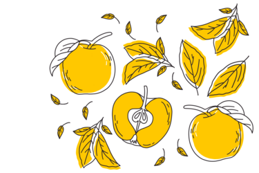 Illustration of Golden Delicious apples; by Stefanie Kreuzer, b13 GmbH (CC BY-SA 4.0)